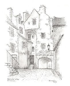 244x300 Bakehouse Close Drawing By Ian Mcneill