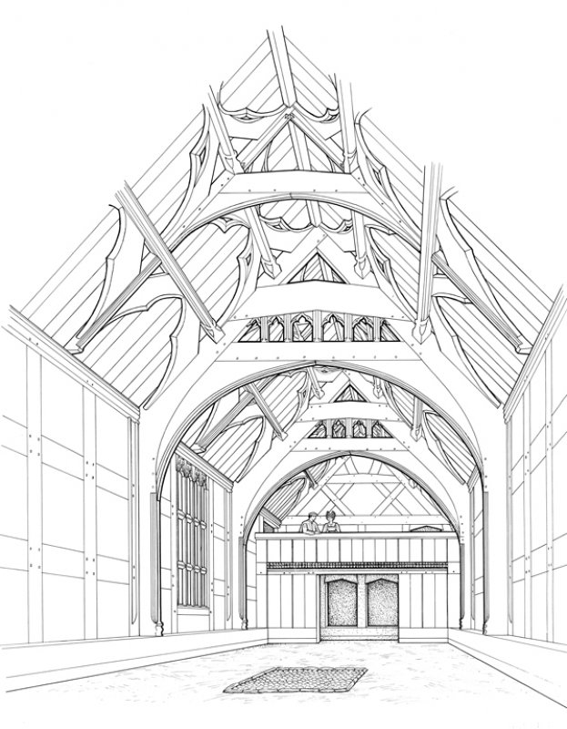 Manor House Drawing