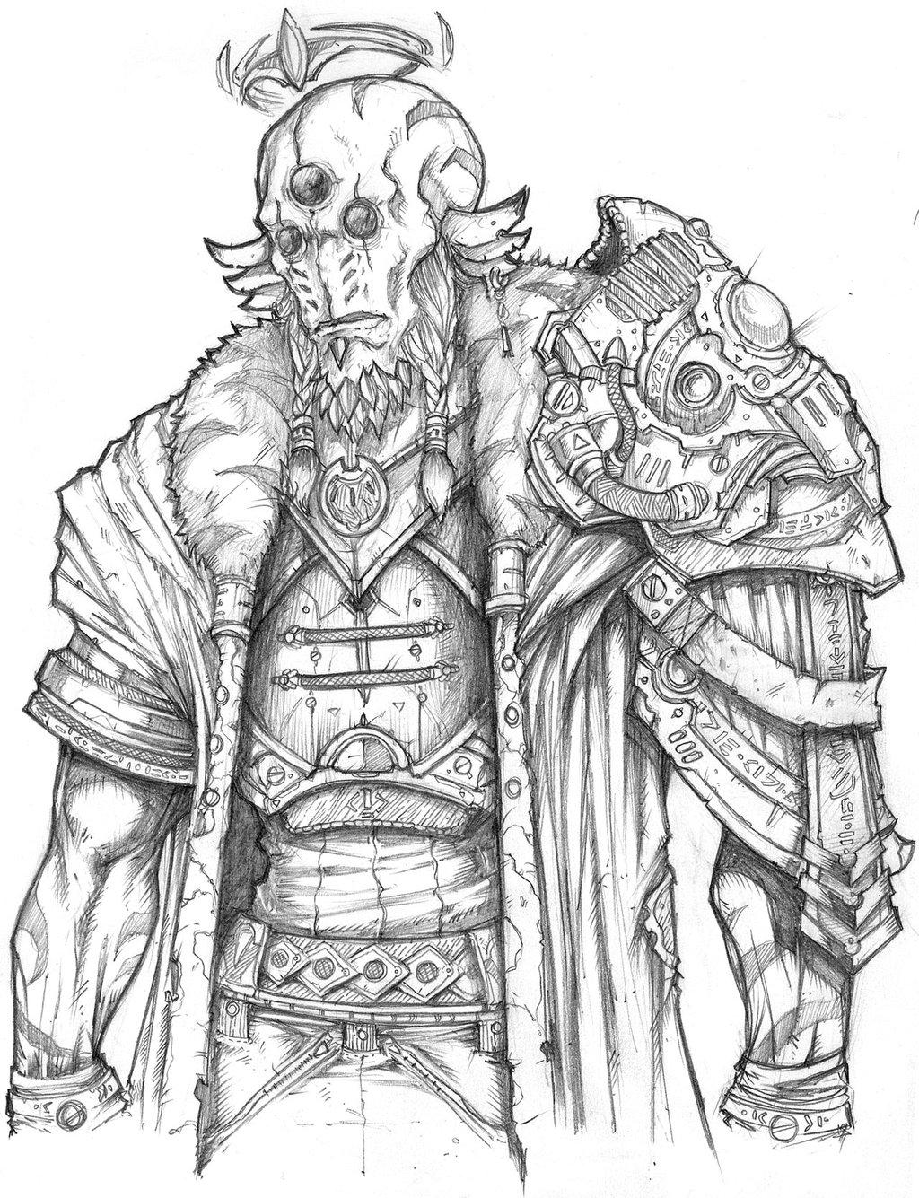 1024x1335 Drawn Warrior Warrior King