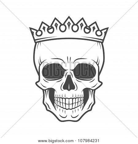 450x470 Skull King Crown Design Element. Vector Amp Photo Bigstock