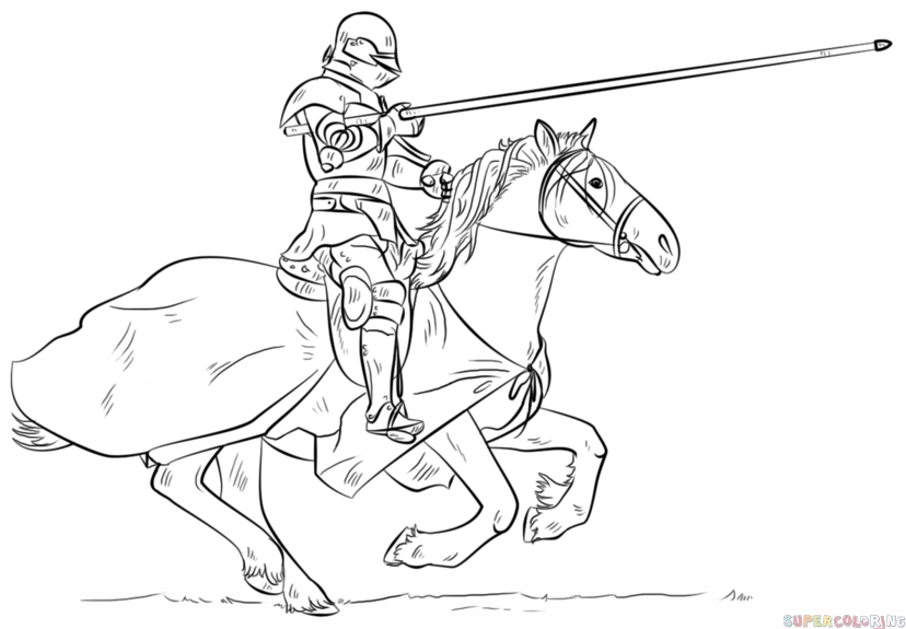 828x575 How To Draw A Knight On Horse Step By Step. Drawing Tutorials