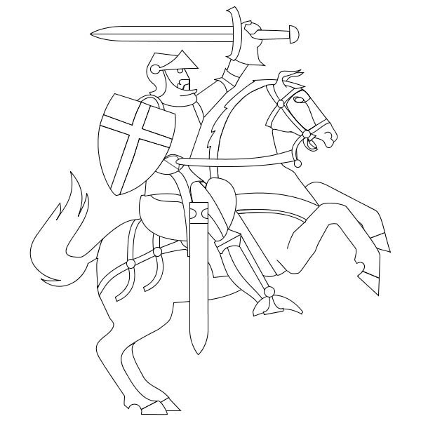 600x630 Knight Rearing O His Horse In Middle Ages Coloring Page Color Luna