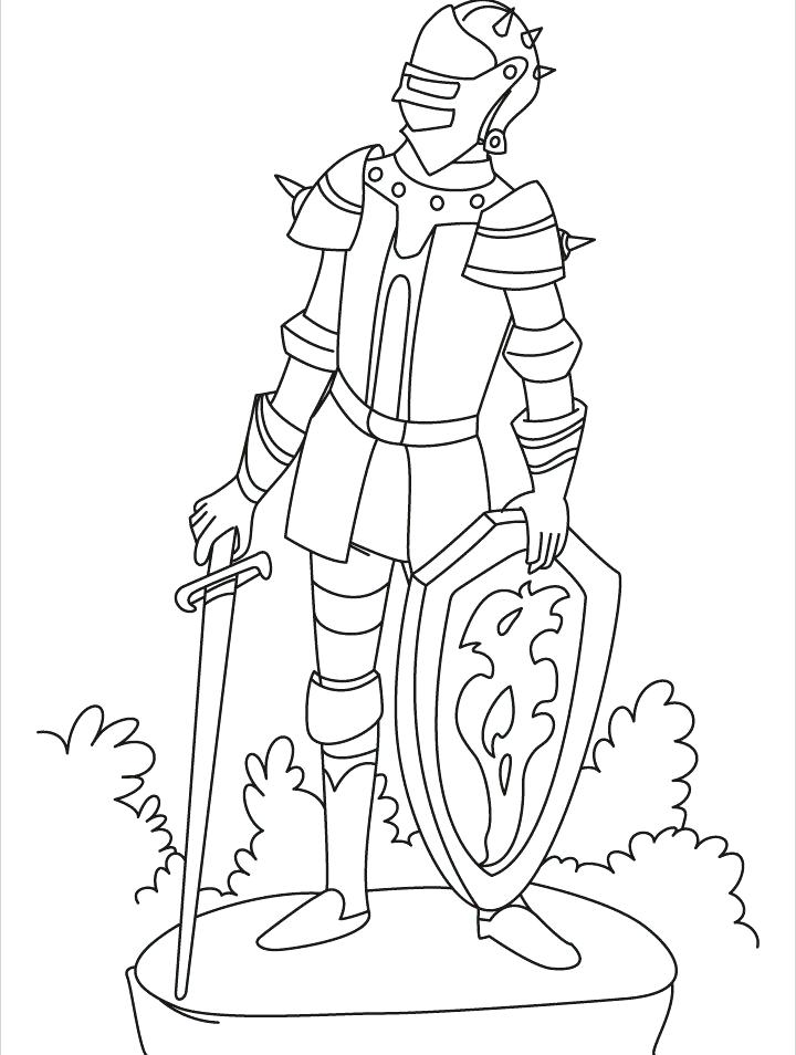 720x954 Medieval Knight Coloring Pages Times Knights