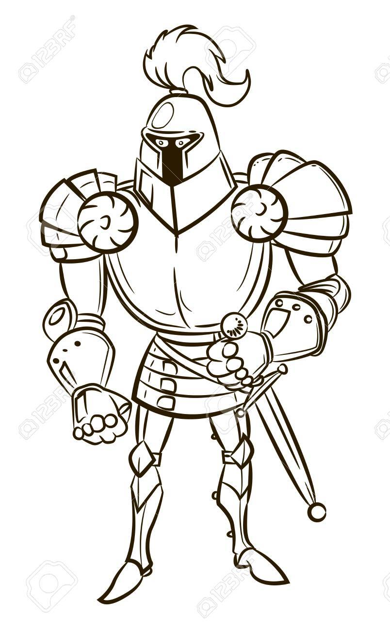 804x1300 Cartoon Image Of Medieval Knight Royalty Free Cliparts, Vectors
