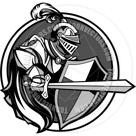 460x460 Medieval Knight With Sword And Shield Vector Image By Chromaco