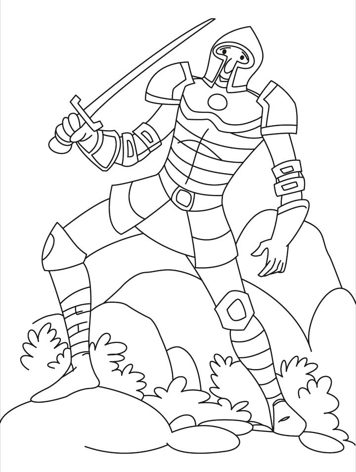 720x954 Medieval Knights Coloring Pages A Brave Knight Download Free Many