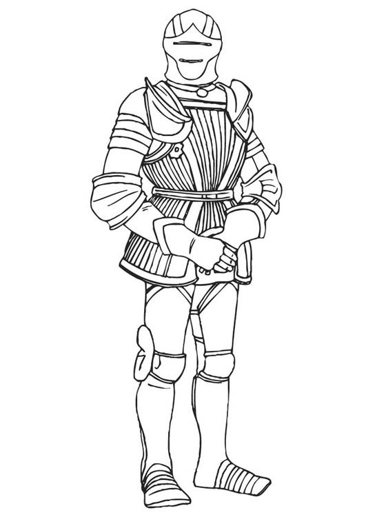 531x750 Coloring Page Knight In Armor