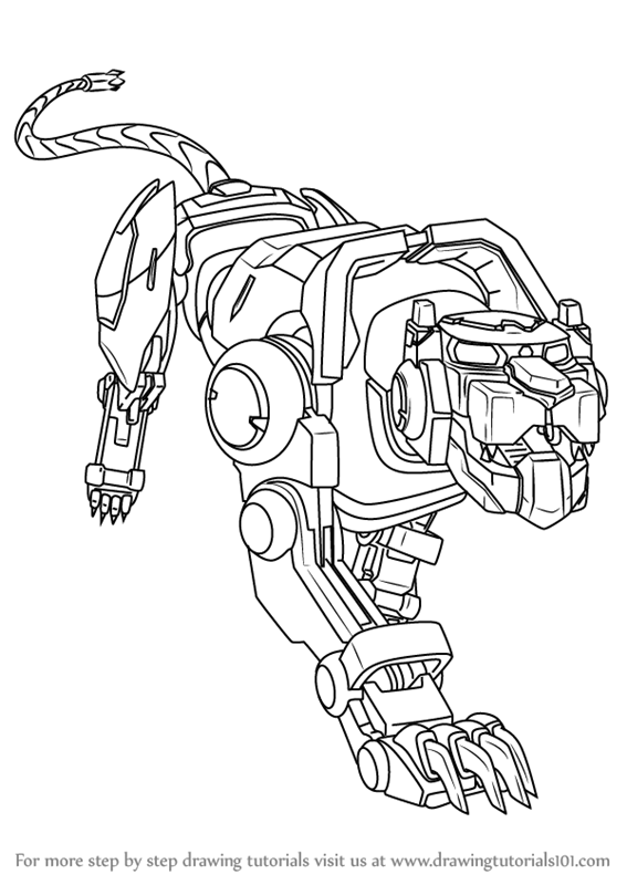567x800 Learn How To Draw Blue Lion From Voltron