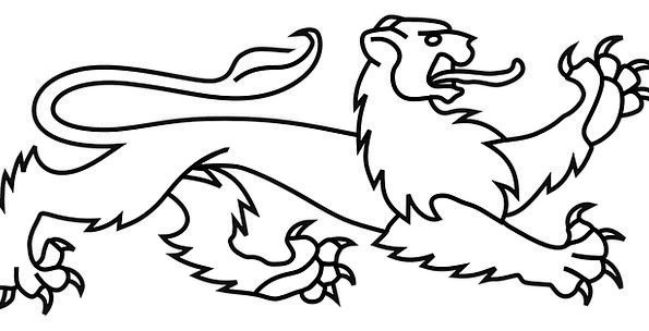 595x304 Lion, Top, Symbol, Sign, Crest, Medieval, Feudal, Coat Of Arms