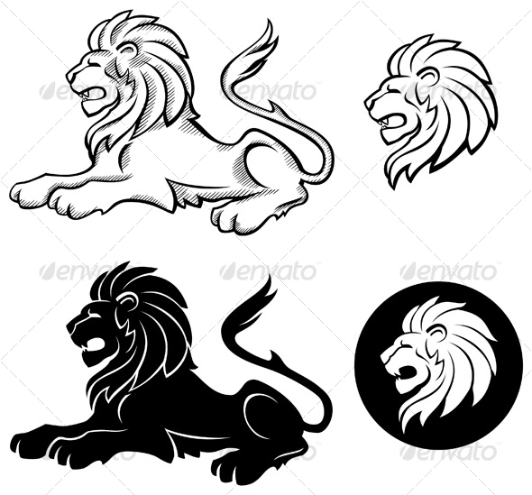 590x549 Lion Siluettes By Abrams Graphicriver