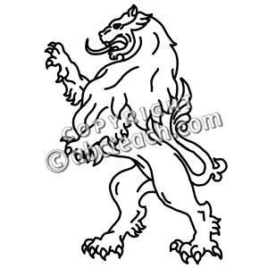 300x300 Medieval Lion Clip Art