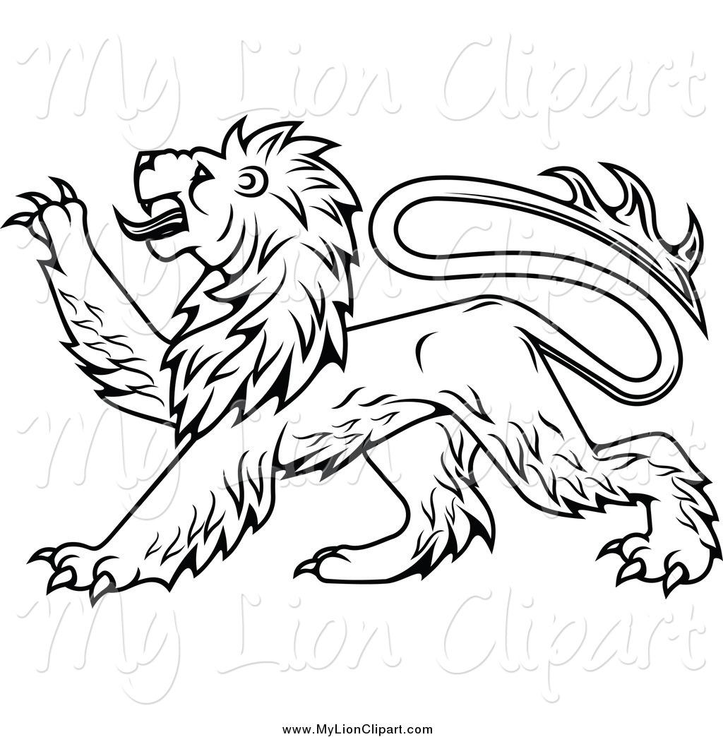 1024x1044 Rampant Lion Clipart