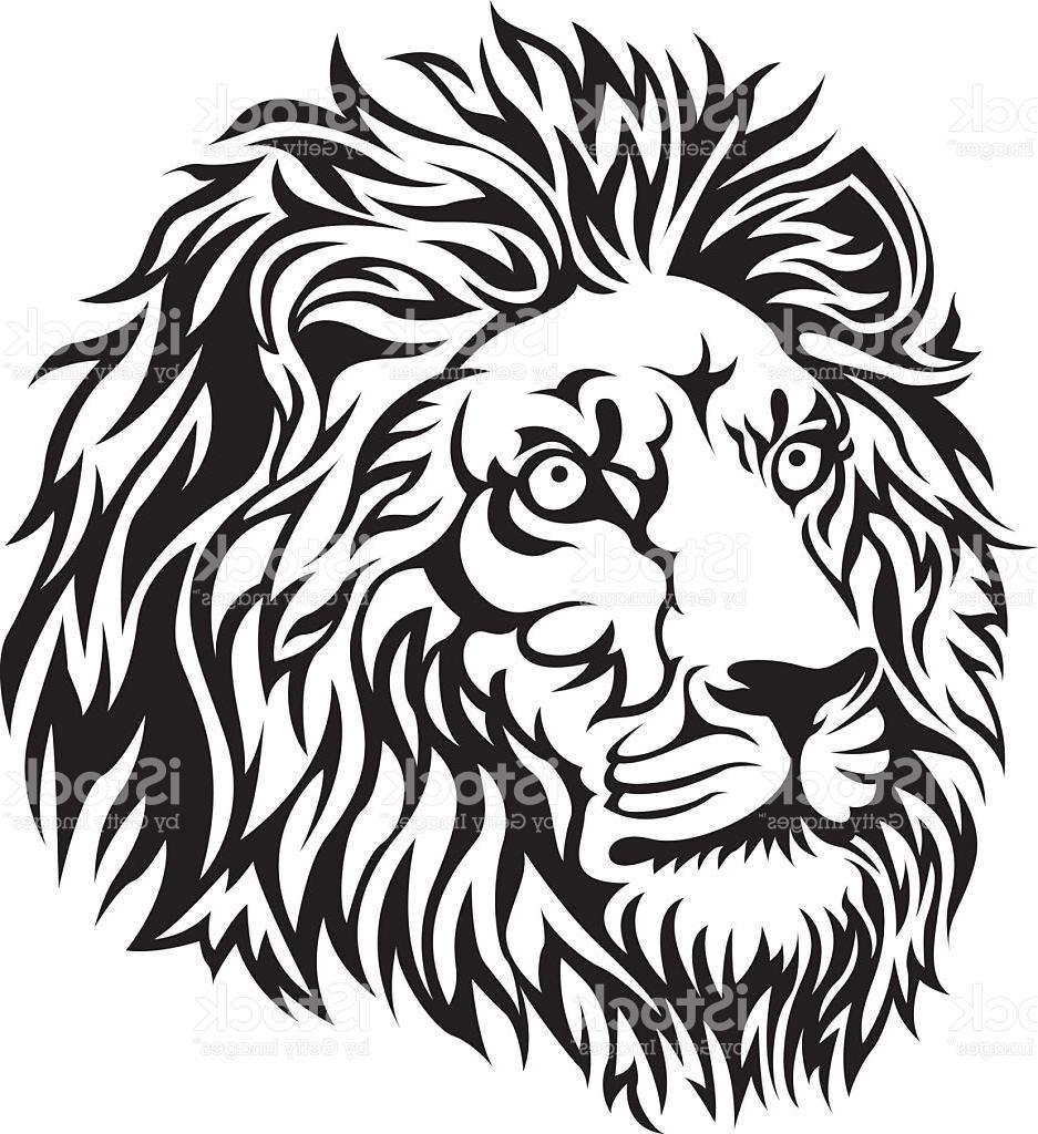 937x1024 Top Black Lion Head Vector File Free