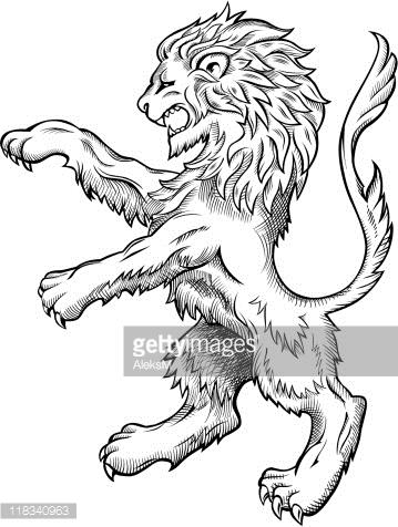 359x476 Vector Art Medieval Lion Drawing Lion Art Lion