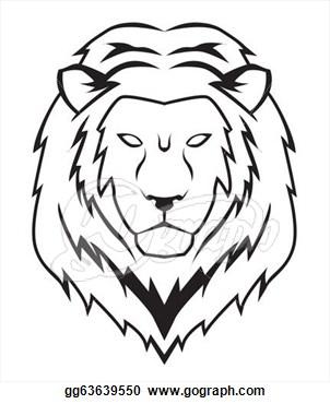 302x370 Drawn Lion Traceable