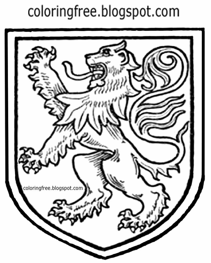 Medieval Lion Drawing At Getdrawings Free For Personal Use
