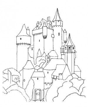 300x367 17 Best Drawing Castles Images On Castles, Medieval