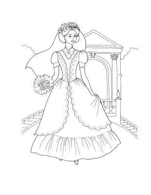 309x400 Medieval Princess Coloring Pages