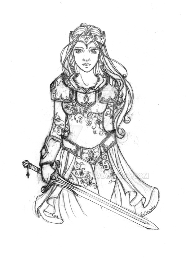 600x835 Warrior Princess Rough Draft By Tiara