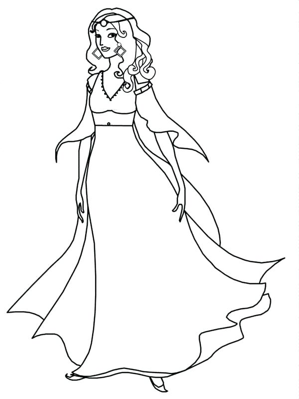 600x799 Medieval Princess Coloring Pages Medieval Coloring Pages Medieval
