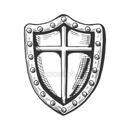 450x450 Medieval Knight Shield Icon Stock Vector Istryistry
