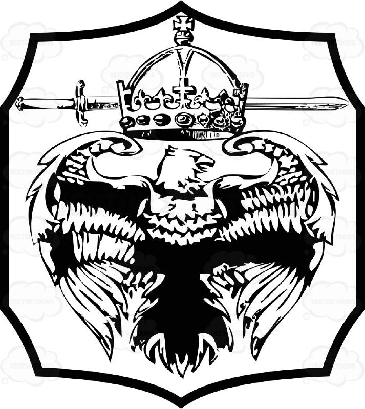 713x800 Black Eagle Clipart Shield