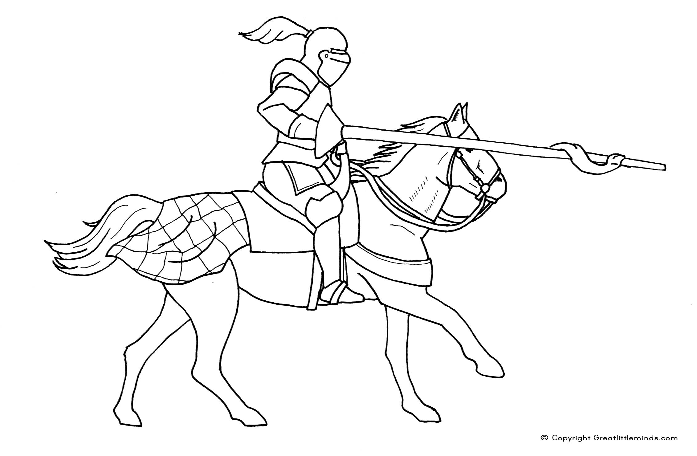 2262x1480 Medieval Knights Horse Coloring Pages