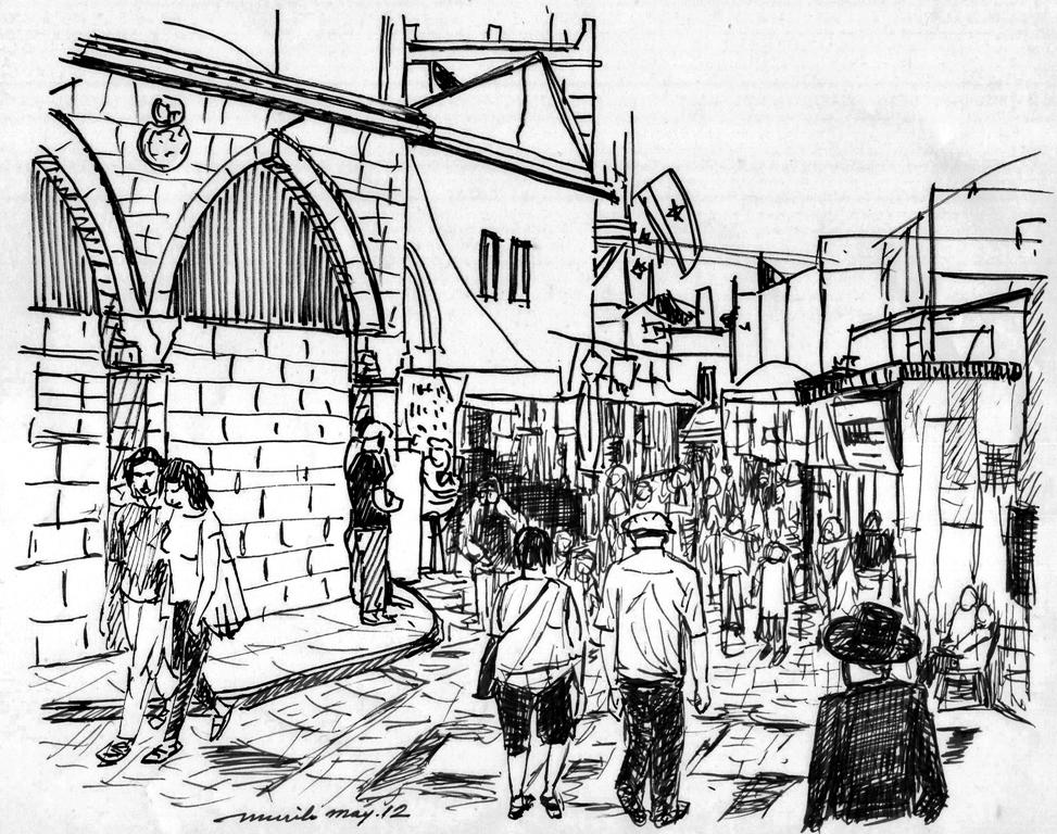 973x768 Pencil Drawings Pencil Drawings In Old Jerusalem