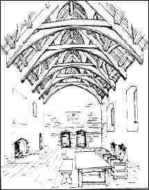 Medieval Village Drawing