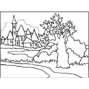 300x300 Medieval Town Embroidery Patterns Medieval Town