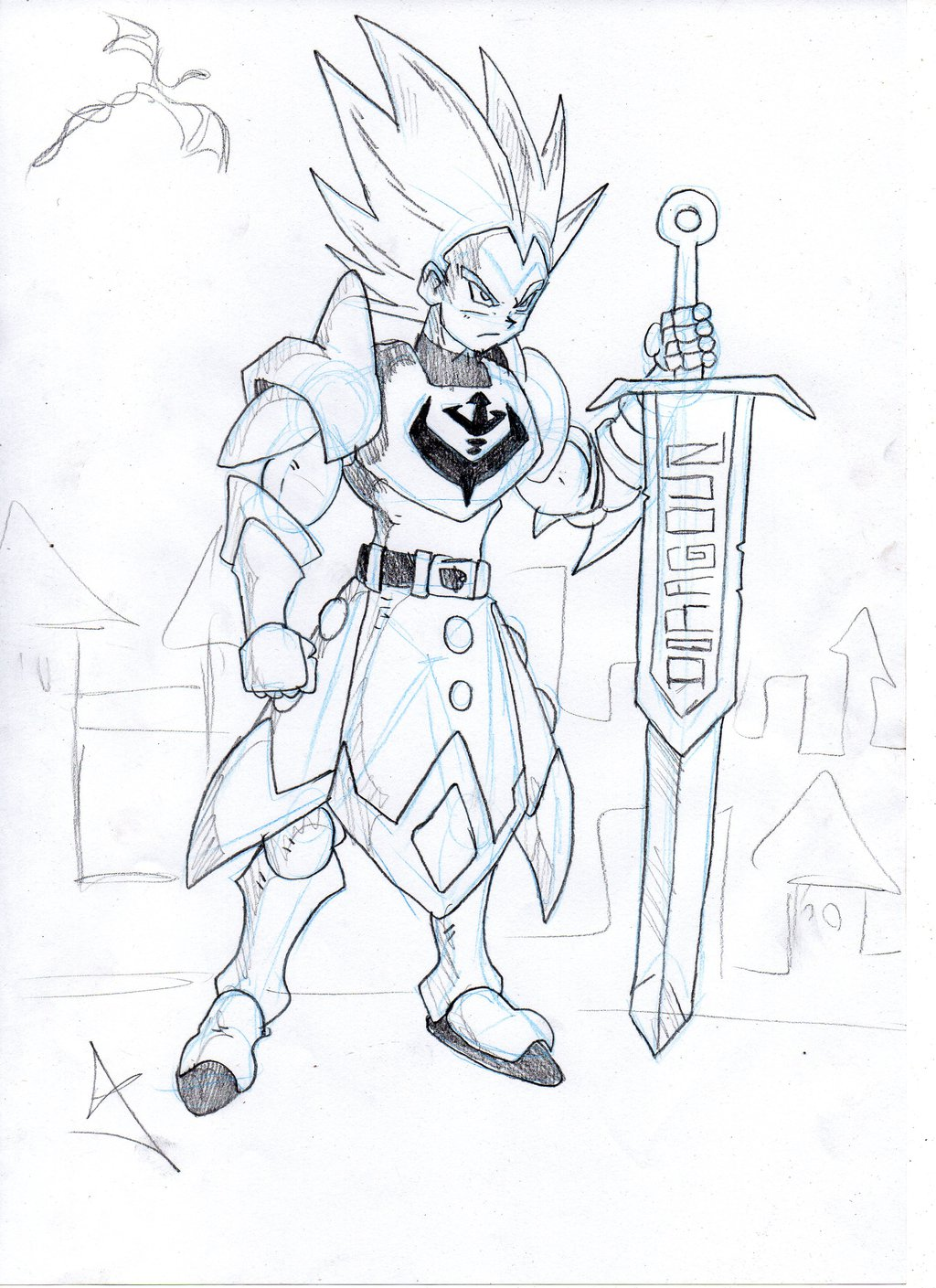 1024x1409 Master Of House Of Vegeta Medieval Warrior Vegeta. By Foxrir