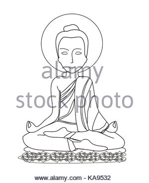 300x368 Hand Drawn Illustration Or Drawing Of A Buddhist Monk