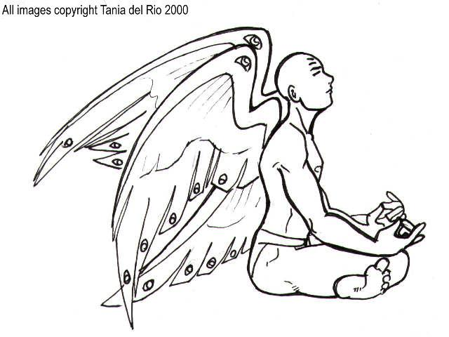 640x480 An Early Drawing Of Metatron As He Sits In Deep Meditation