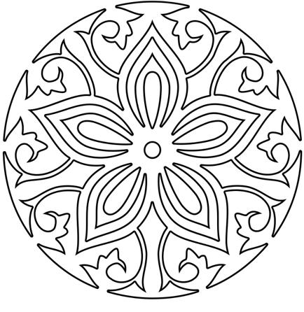434x446 Mandala Coloring Meditation For Good Print Pict Untitled1