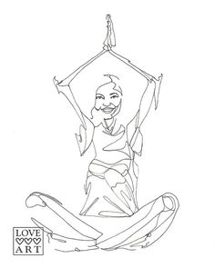 236x295 Yoga Line Drawing Of Eagle Pose And