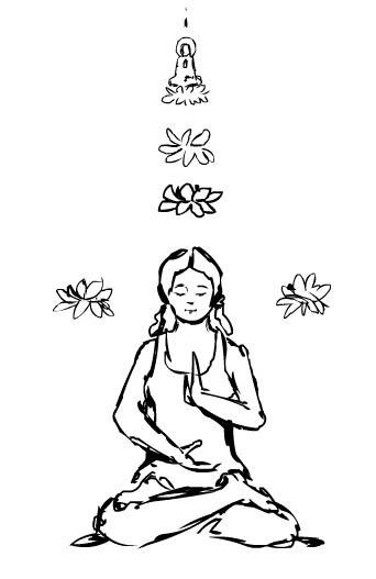 Meditation Drawing at GetDrawings com | Free for personal