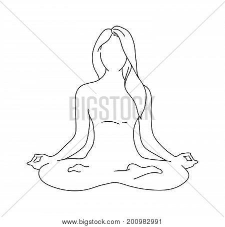 Meditation Pose Drawing at GetDrawings   Free download