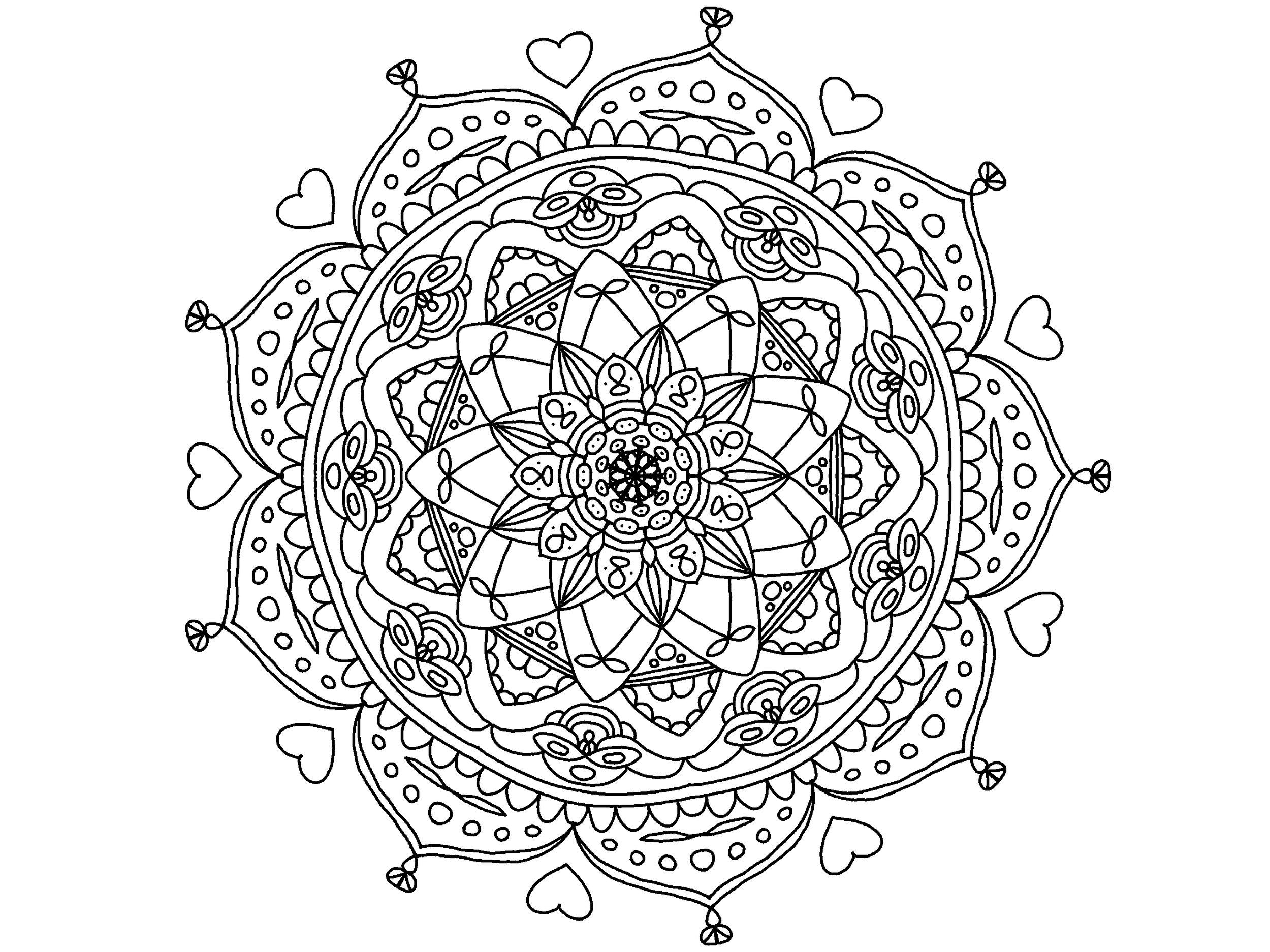 2500x1874 Meditative Coloring Pages Adult Coloring The Lost San Diego