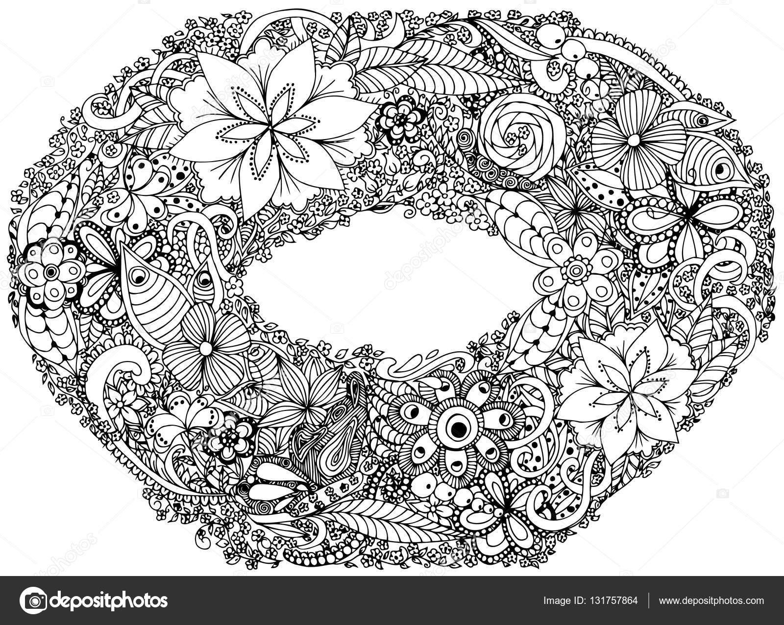 1600x1276 Photo Frame, Wreath, Garland, Crown, Circlet Of Flower. Vector