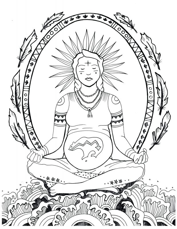 618x800 Printable Mandala Abstract Colouring Pages For Meditation Stress