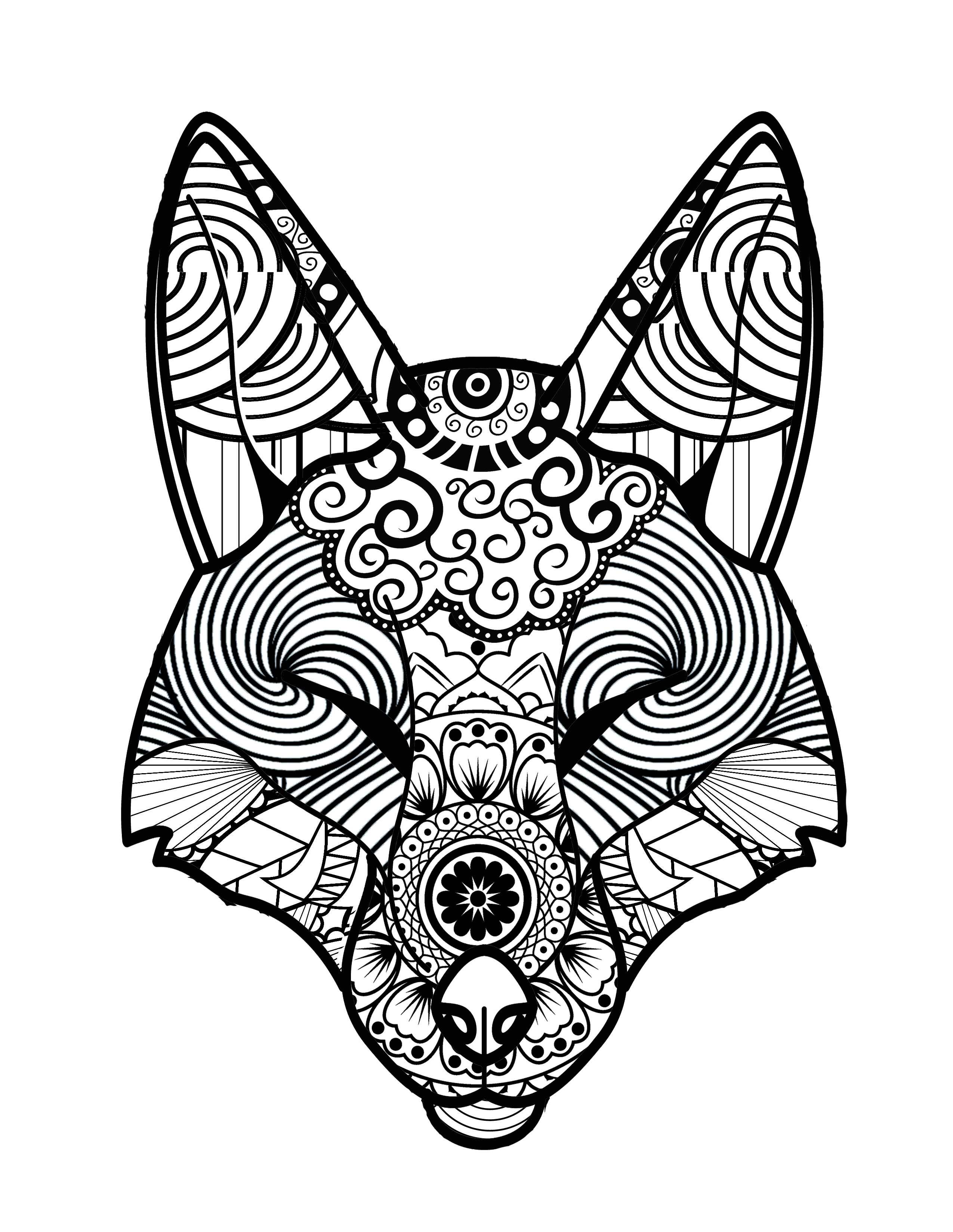 2550x3300 The Meditative Practice Of Coloring With This Animals Relax, Which