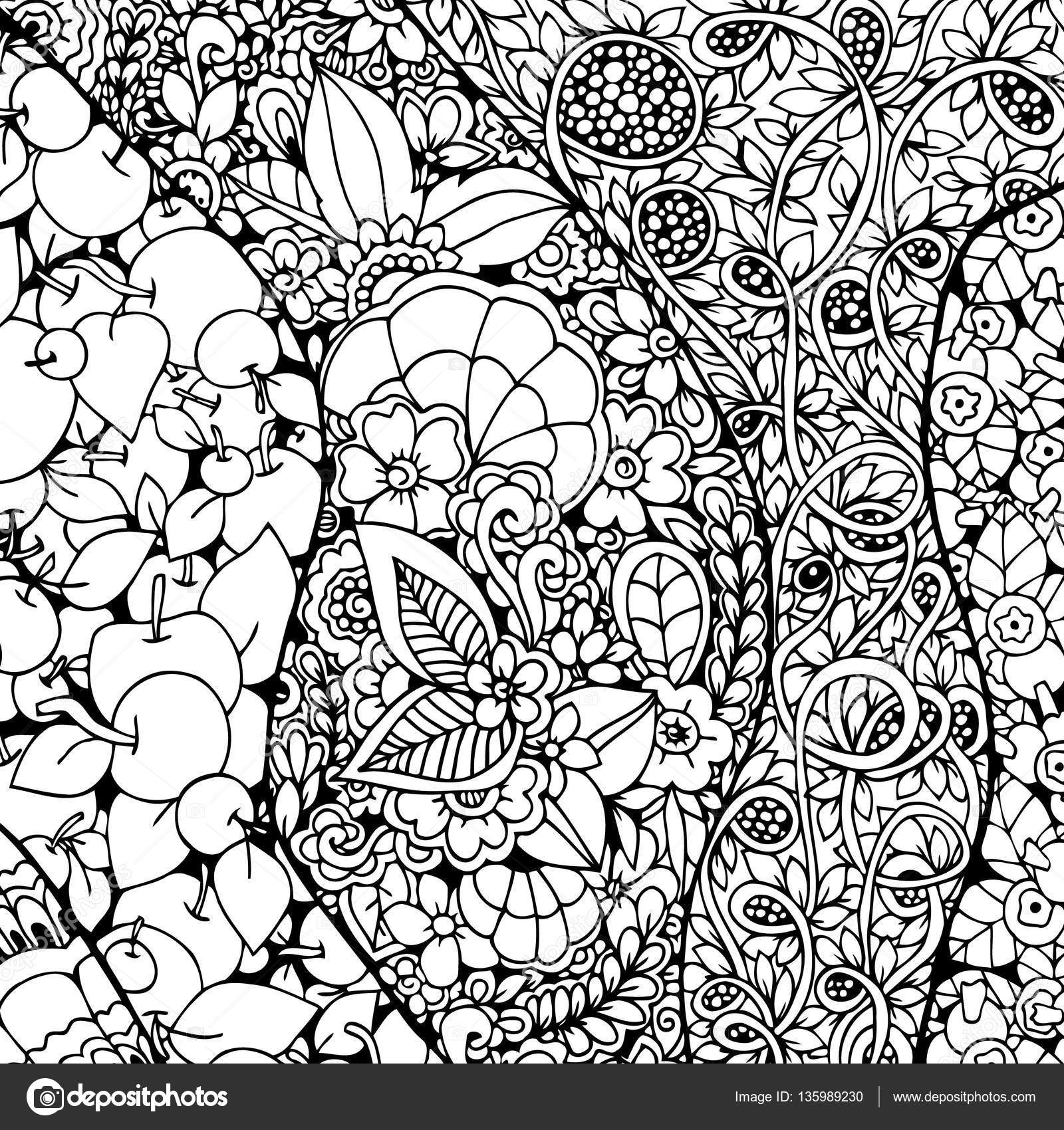 1600x1700 Vector Illustration Zen Tangle Background With Ornament Doodle
