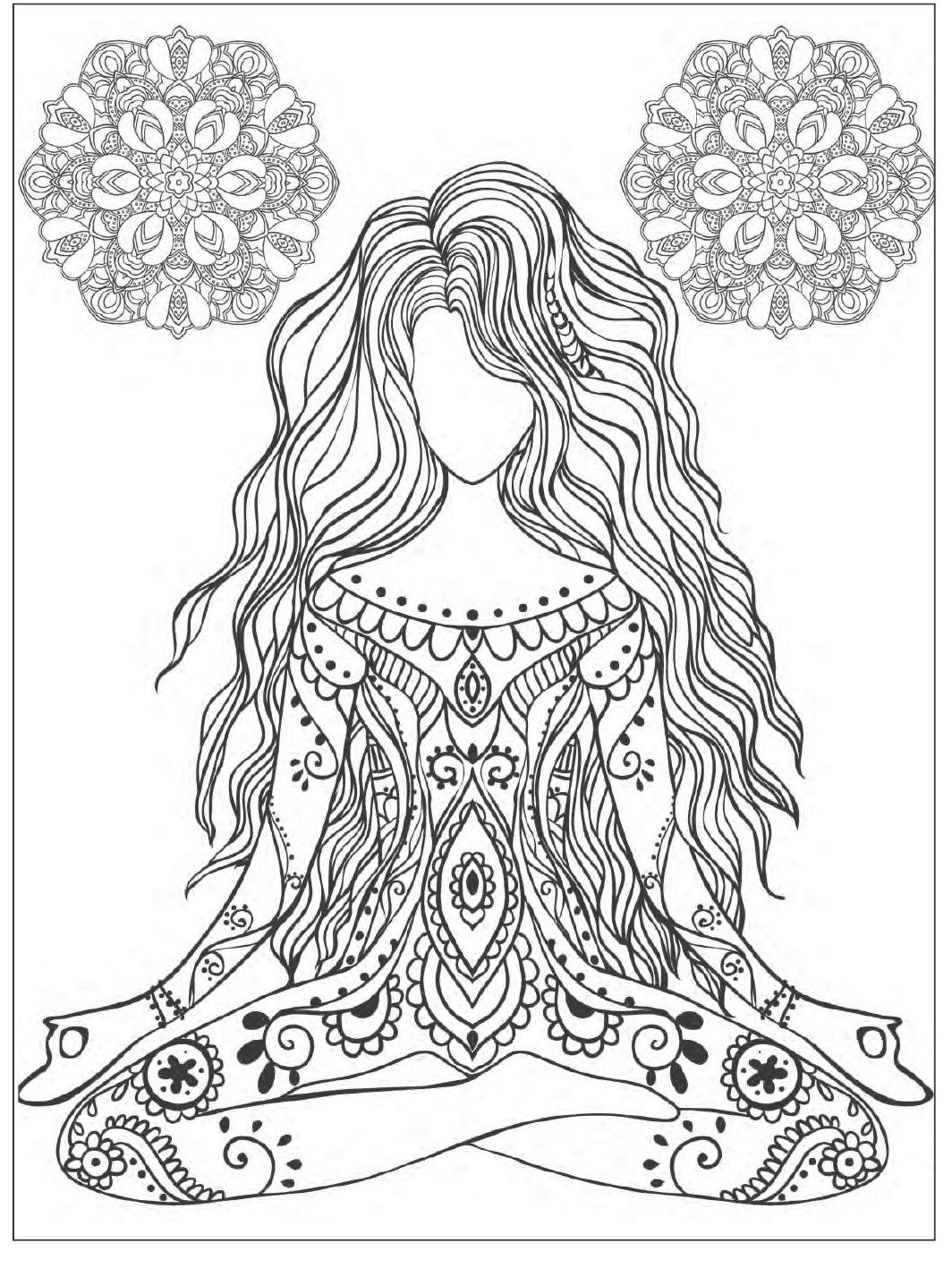 1064x1427 Yoga Meditation Coloring Book For Adults With Yoga Poses