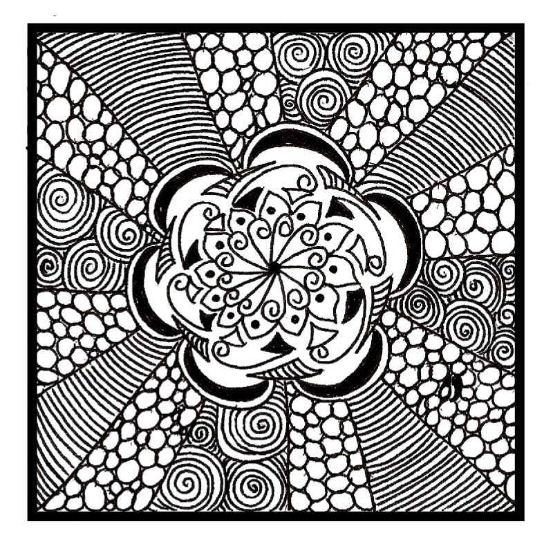 800x800 Zentangles! This Is A Neat Idea Where People Make Little Pretty