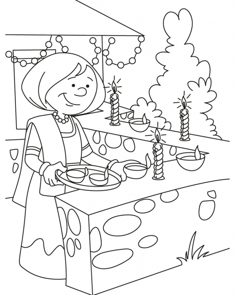 814x1024 Drawing Sketch For Kids Drawings On Diwali Festival For Children
