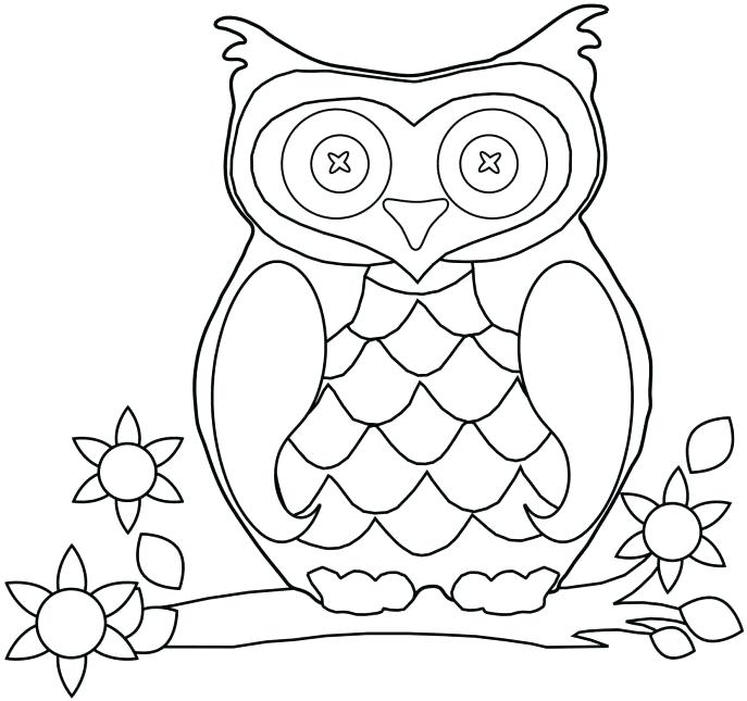 687x645 Impressive Enchanting Coloring Pages Owls Print Medium Size