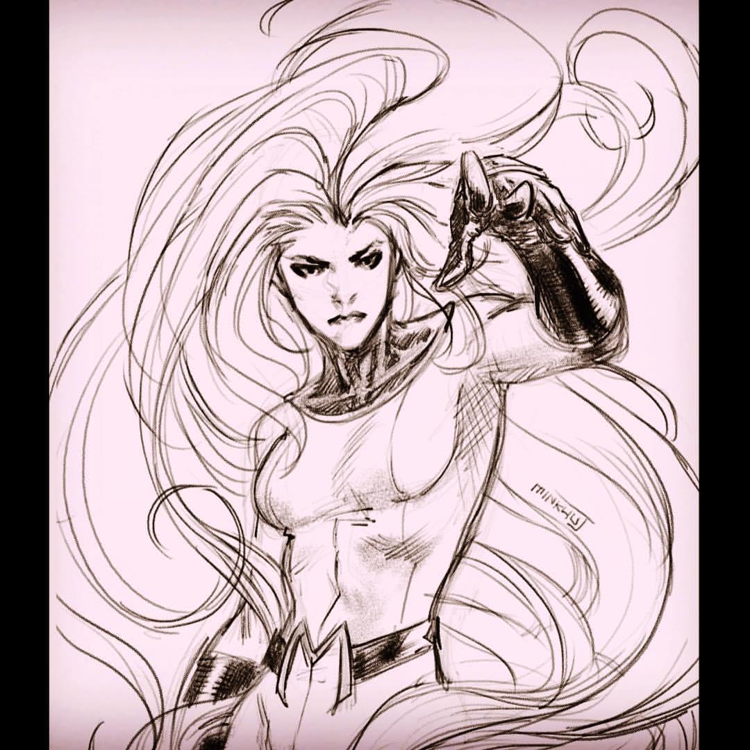 1080x1080 Medusa Rough Sketch Wip By Minkyu Jung