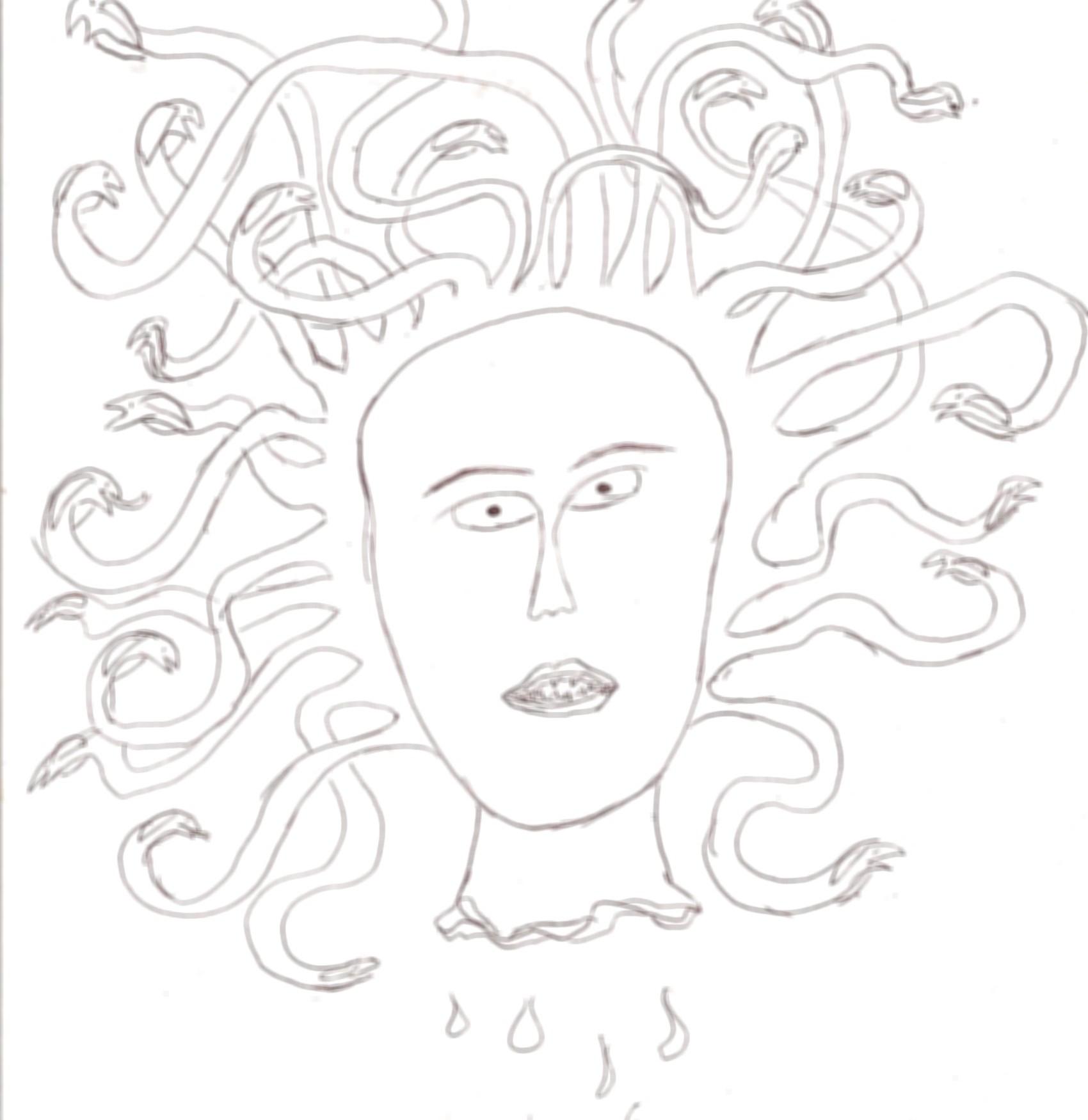 1700x1750 How To Draw Madusa's Head!!! 4 Steps