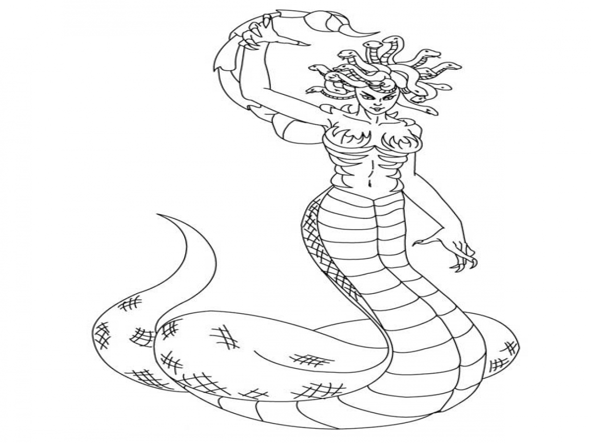 1152x864 Medusa Full Body Coloring Page Here Home The Demon Of Tartarus