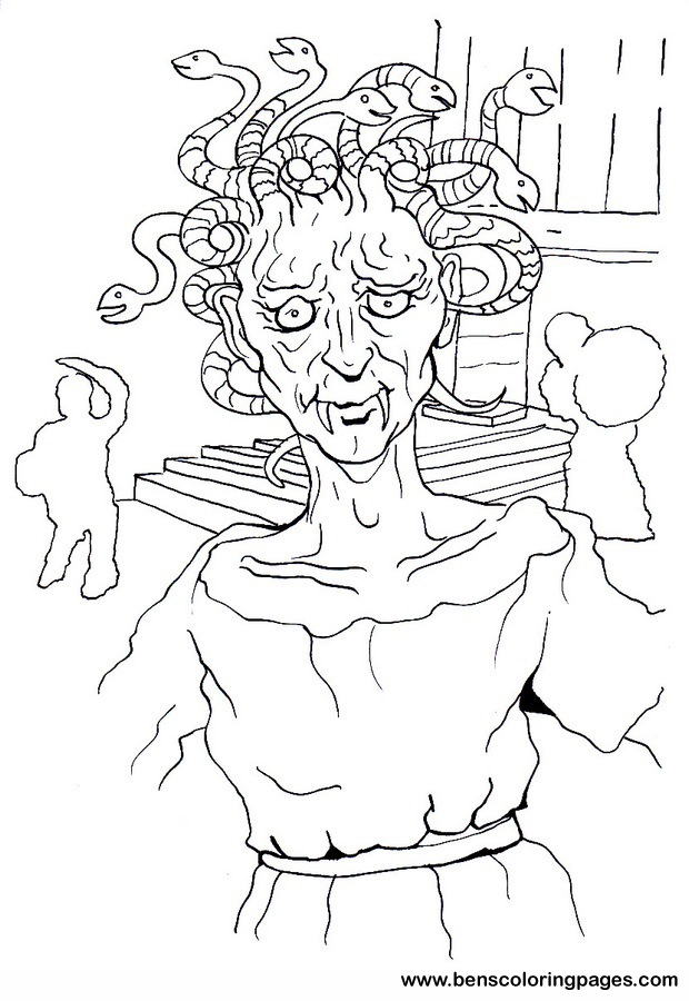 620x900 Medusa Head Coloring Page Update